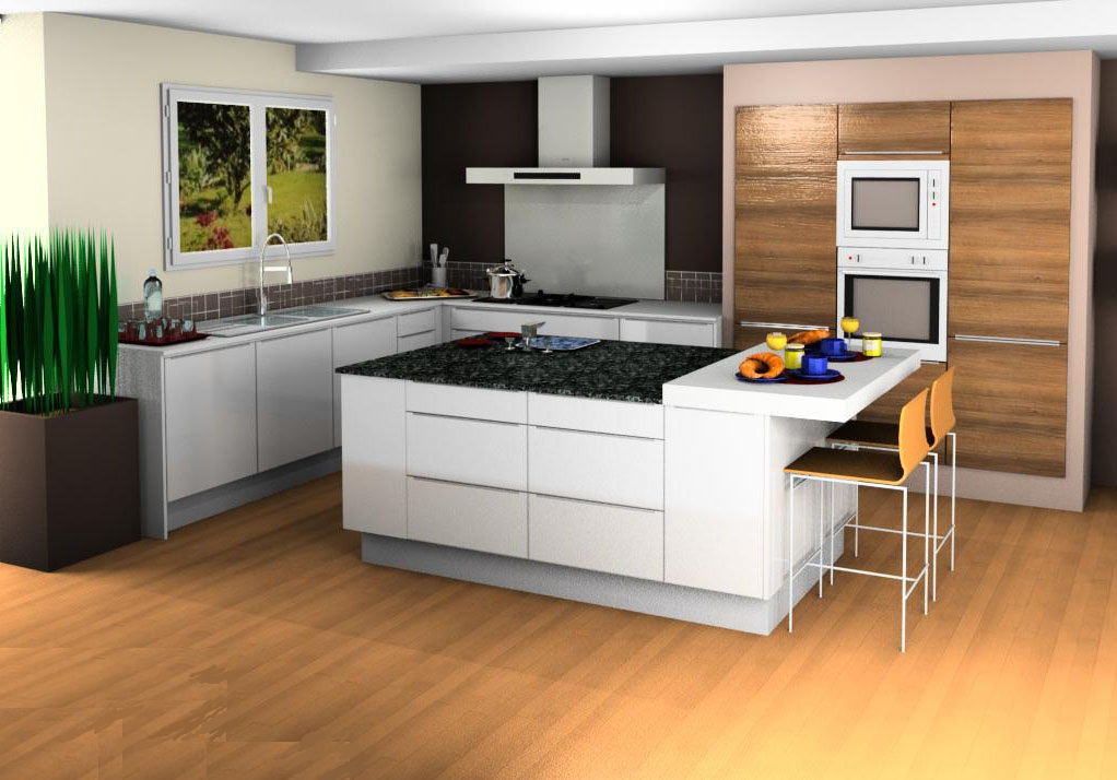 Lovely photos of conception cuisine 3d cuisine chambre for Creer sa cuisine ikea